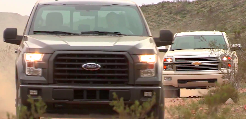Gmc Lifts The Covers Off New Sierra Hd All Terrain X Chevytv Shootout: Ford F-150 Ecoboost vs. Chevy Silverado V8 - ChevyTV