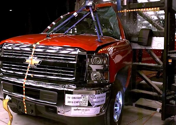 2015 Chevrolet Silverado 2500HD Double Cab crash test - ChevyTV