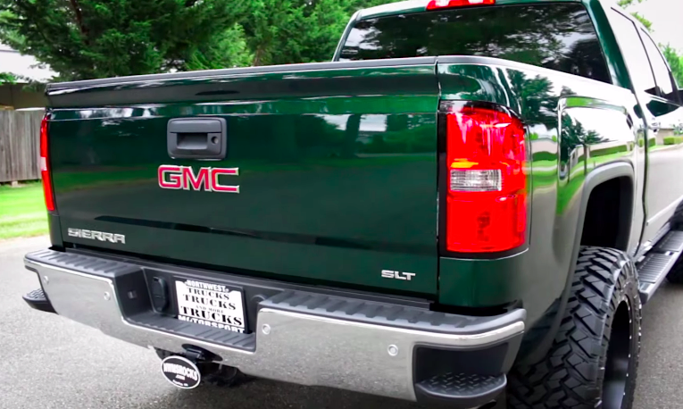 This Gmc Sierra Is A Mean Green Monster Chevytv