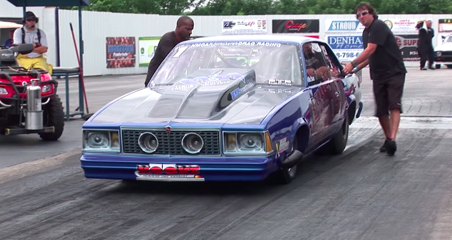 Twin Turbo Malibu Scorches The Dragstrip With 3 500