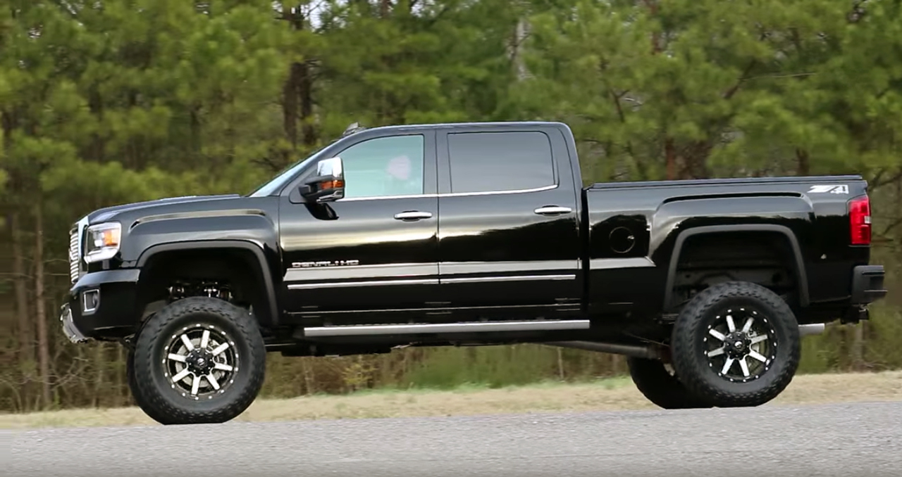 Go over anything: Lifted 2015 GMC Denali 2500HD is all ...