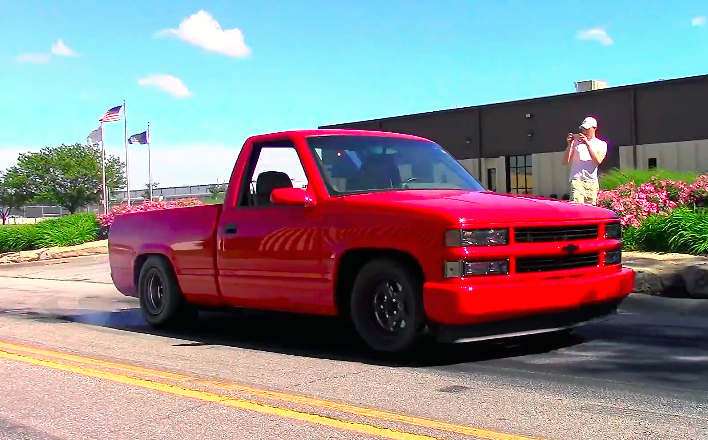 1465hp Twin Turbo Silverado Throws Down With A Black Bird
