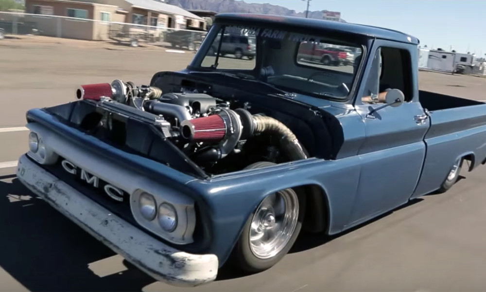 Vintage 1 000 Hp Twin Turbo Gmc Is A Glorious Garage Built Beast Chevytv