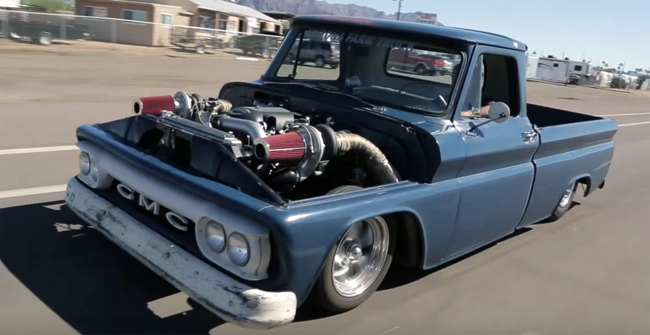 vintage 1 000-hp twin-turbo gmc is a glorious garage-built beast