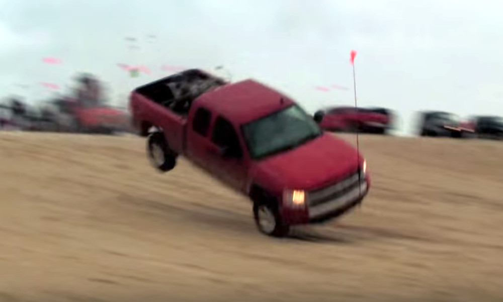 This Is The Most Incredible Silverado Jump Ever Recorded