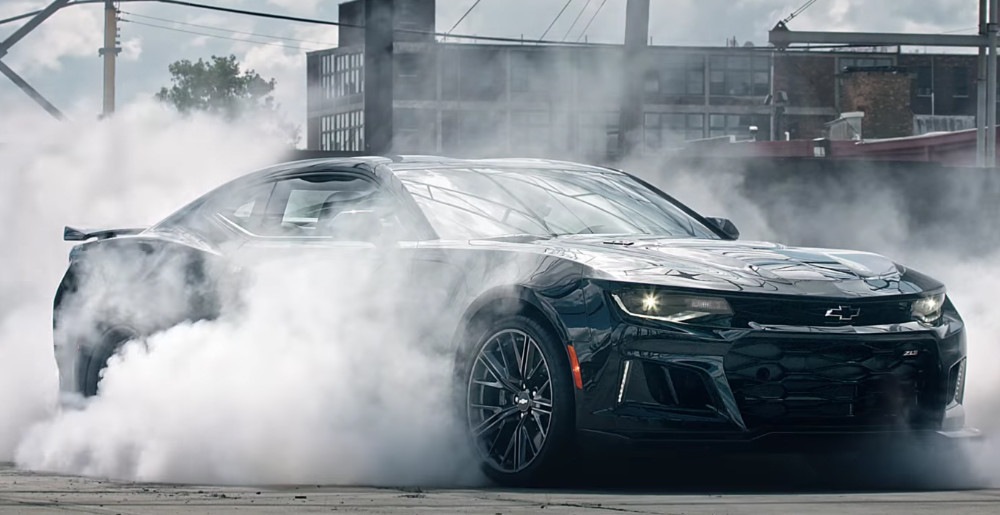Celebrate 50 Years Of The Camaro With An Awesome Zl1 Burnout Chevytv