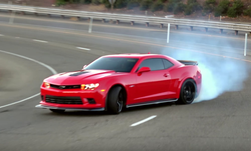 Watch a Camaro Z28 Drift An Entire Freeway Onramp! - ChevyTV