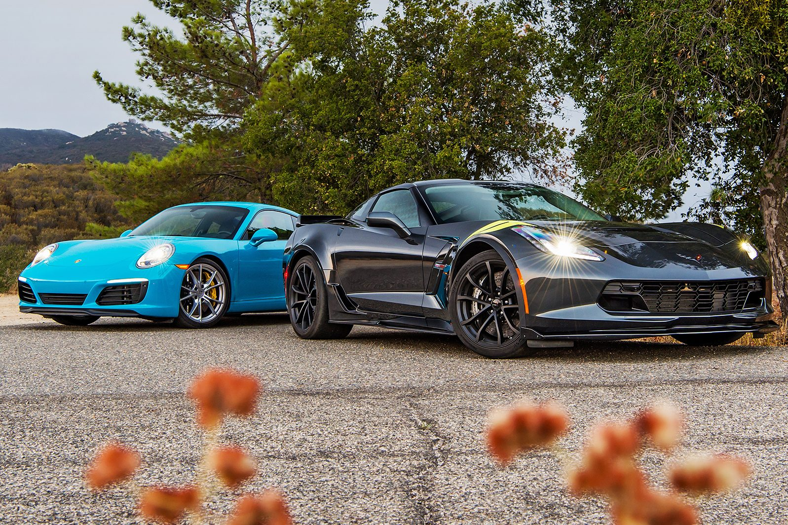 2017 corvette grand sport takes on porsche 911 carrera s