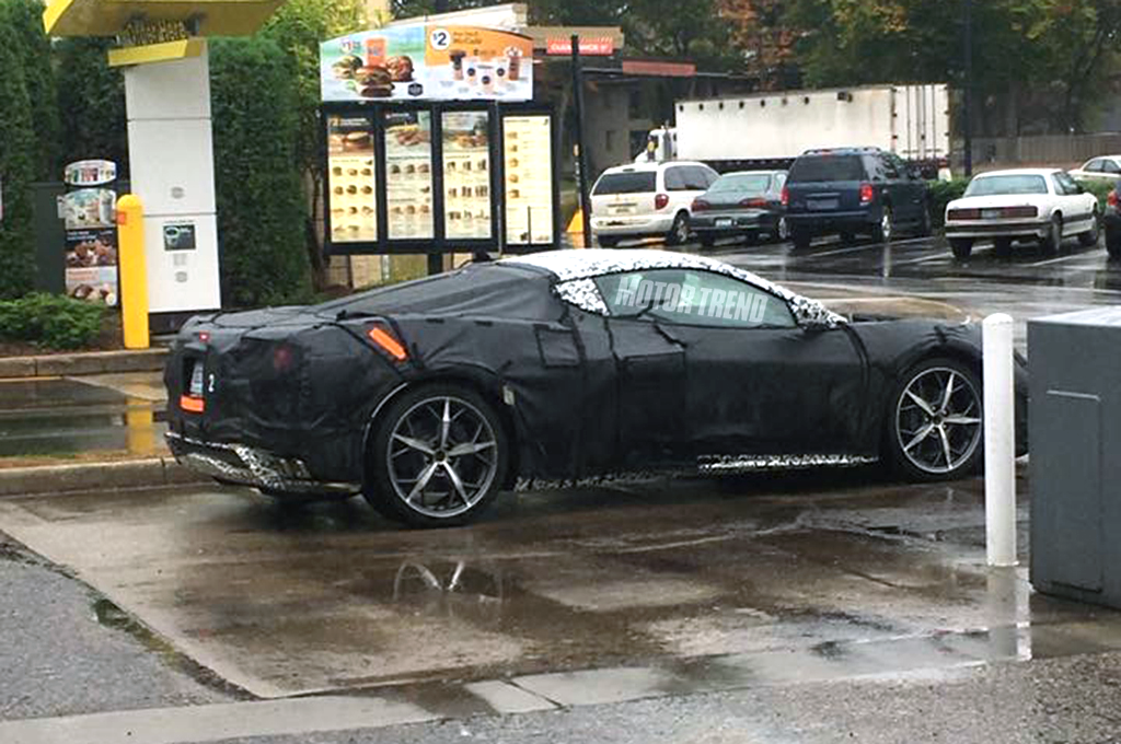 Would You Like Fries With That 2019 Mid Engine Corvette Spotted At Mcdonald S Chevytv