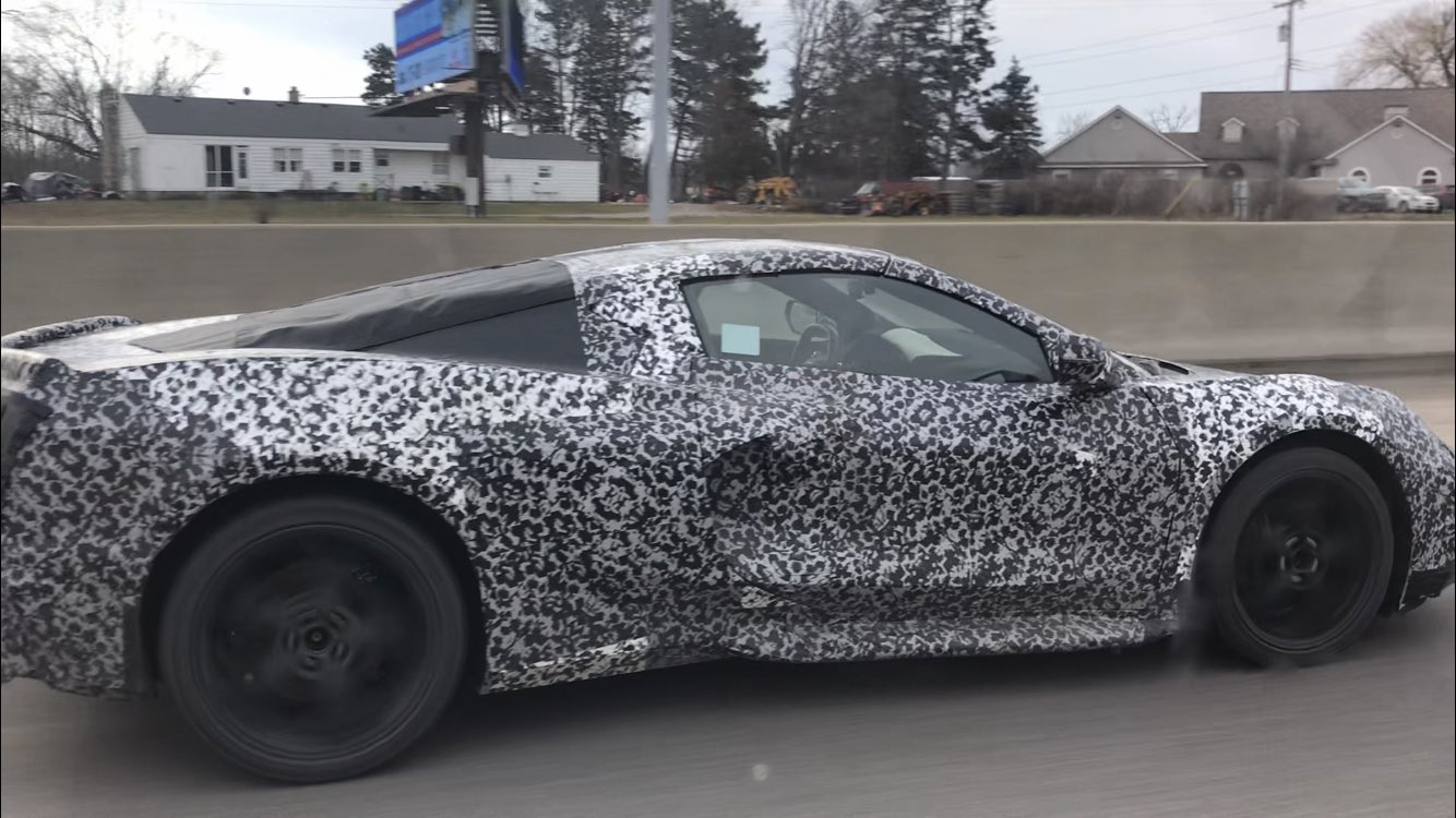 Corvette C8 Spotted Testing, Interior Leaked